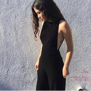 American Apparel Black Velvet Jumpsuit 🌿